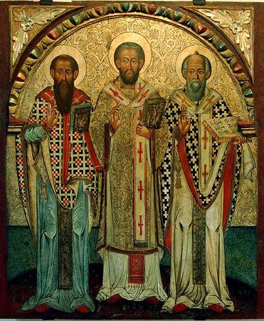 Собор вселенських учителів і святителів: Василія Великого, Григорія Богослова та Іоана Золотоустого